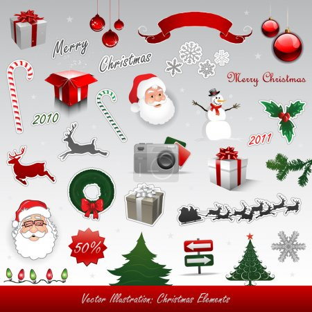 Illustration for Christmas design elements collection set - Royalty Free Image