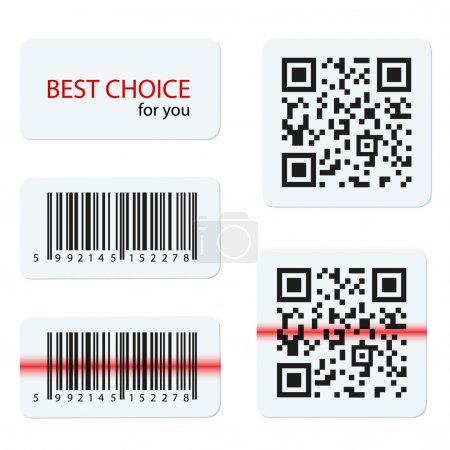 Vector barcode and qr code for your design
