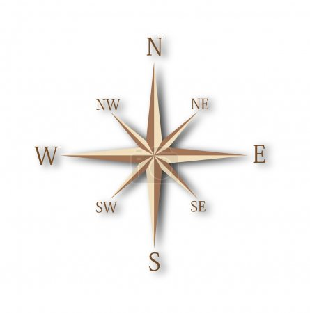 Photo pour Wind rose isolated on white background - image libre de droit