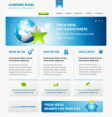 Business web site design template with Earth and star  See more web site templates in my potfolio