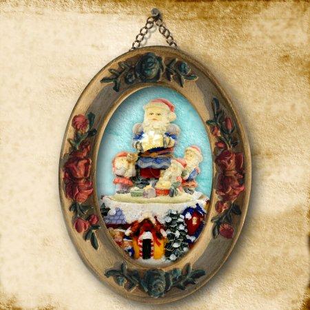 Cartes de voeux de Noël, Santa image ancienne
