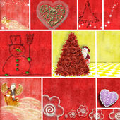 Collage illustration of Christmas time