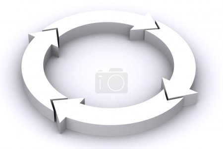 Photo for A 3d Rendered White Process Arrow Illustration - Royalty Free Image