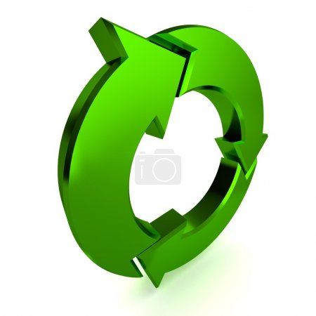 Photo for A Colourful 3d Rendered Green Process Arrow Illustration - Royalty Free Image