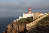 Lighthouse at Cape St. Vincent in Algarve, Portugal