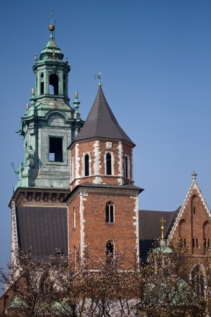 Wawel castle tower. Krakow, Poland.
