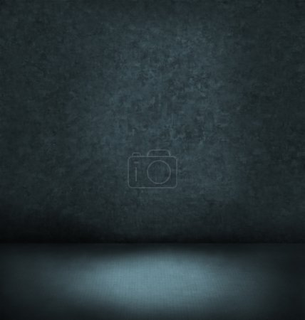 Abstract blue dark interior
