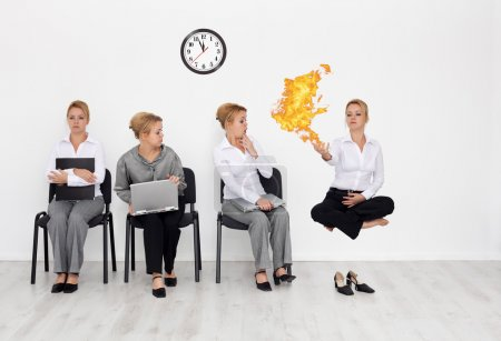 Photo for Employees with special skills wanted concept - job interview candidates waiting - Royalty Free Image