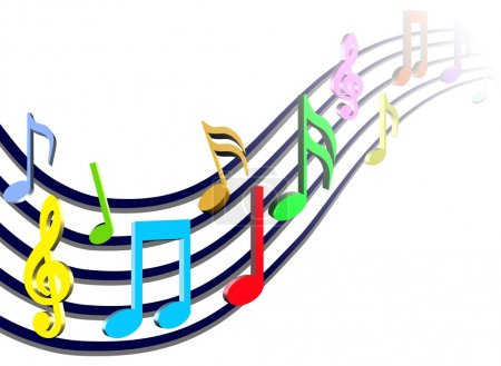 Colorful Music Notes