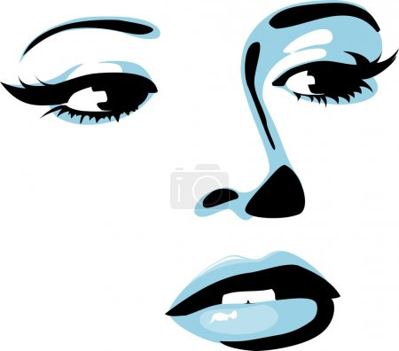 Illustration for Beautiful vector girl - Royalty Free Image
