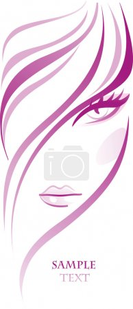 Illustration for Female banner - Royalty Free Image