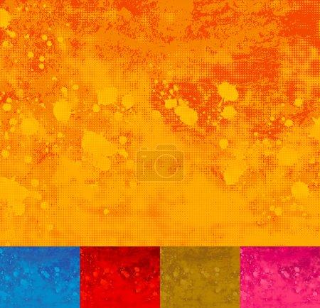Grunge Halftone Splattered Background.
