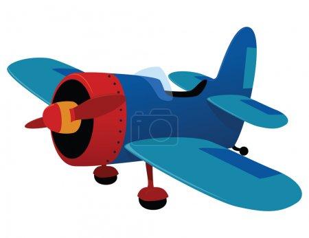 Illustration for Retro plane toy. Vector illustration - Royalty Free Image