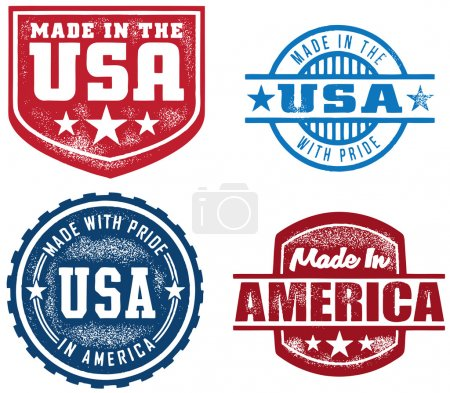 Selection of made in USA/America stamps....