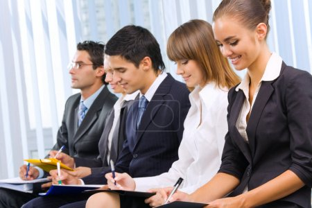 Photo of businesspeople or students at conference