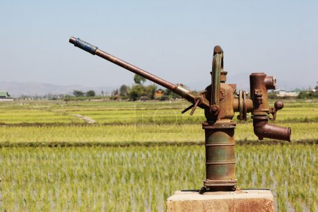 Old rusty water pump