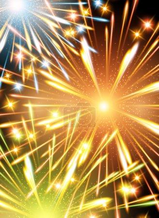Background fireworks fire color