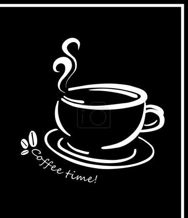 Illustration pour Image de l'illustration vectorielle de tasse à café isolée avec place pour le texte - image libre de droit