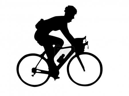 Bike runner isolated on white