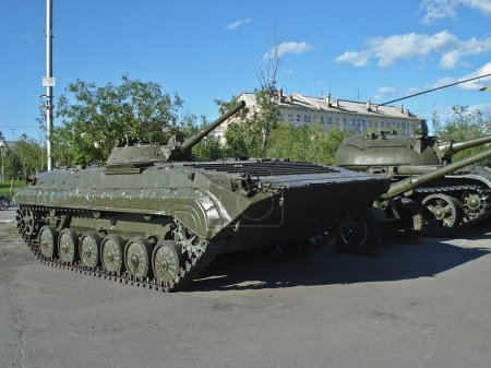 Russian Bmp-1. BMP-1. The Russian tank on the square