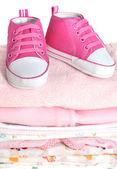 Růžové dětské oblečení