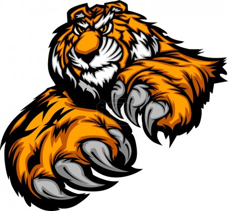 Tiger Body with Paws and Claws