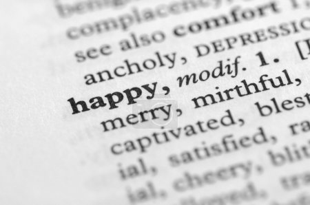 Dictionary Series - Happy