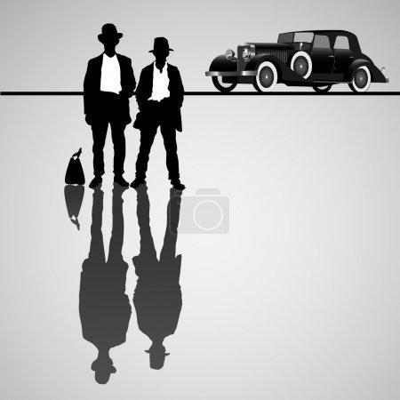 Retro businessmen