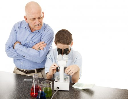 Science Teacher with Student
