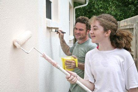 Father Daughter Paint Horizontal