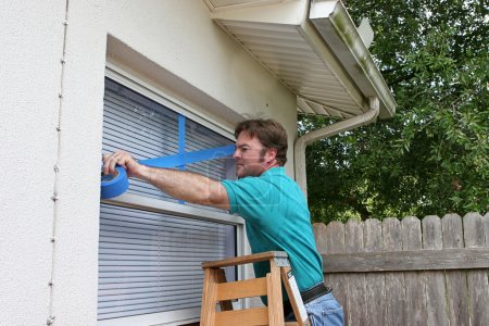 Homeowner Tapes Windows