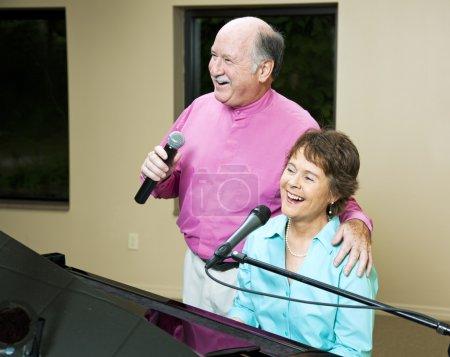 Senior Couple Singing Together