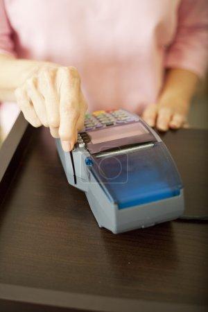 Swiping Debit Card