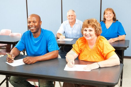 Happy Smiling Adult Education Class