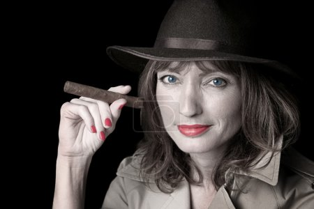 Mysterious Woman & Cigar