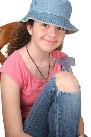 Casual Girl Seated