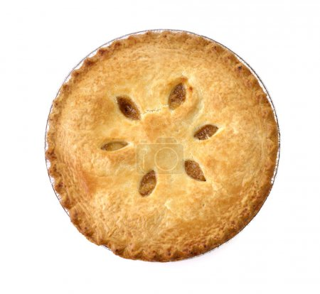 Photo for Apple Pie On White Background , Top View - Royalty Free Image