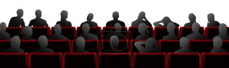 Audience sat in theatre or cinema style chairs...