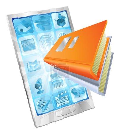 Book app phone concept