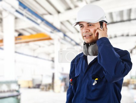 Photo for Portrait of a worker in a factory - Royalty Free Image