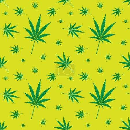 Illustration for Seamless cannabis leaf pattern - illustration - Royalty Free Image