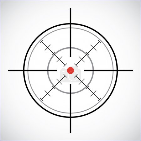 Crosshair with red dot - illustration...