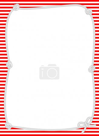 Nautical Knotted Rope Border