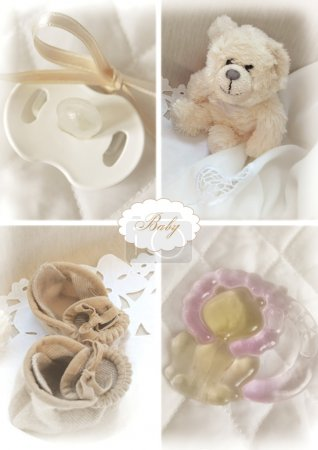 Set of baby objects