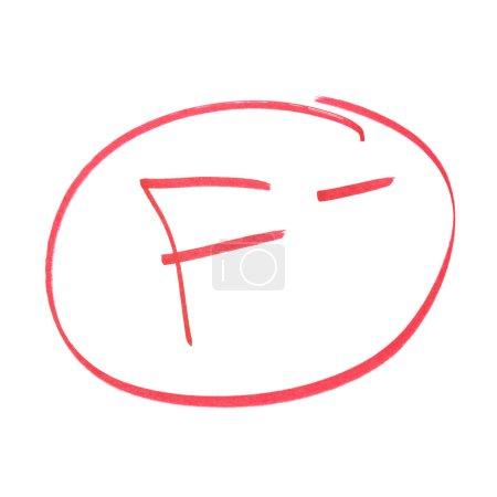 Photo pour Une note manuscrite pour réalisations ayant échouées. - image libre de droit