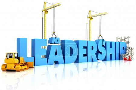 Building Leadership, building LEADERSHIP word, representing business develo