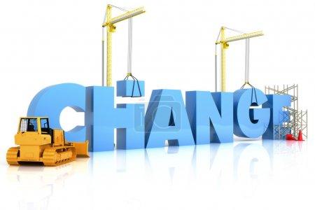 Photo pour Faire du changement avec des résultats constructifs, dans le cadre d'une série - image libre de droit