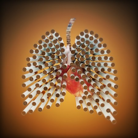 Fumer tue concept