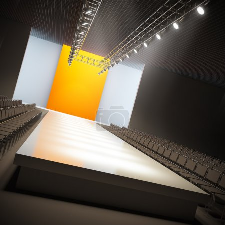 Photo for A 3D illustration of fashion empty runway. - Royalty Free Image