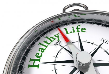 Healthy life concept compass